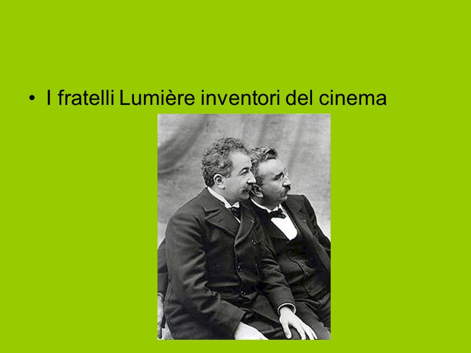 I fratelli Lumière inventori del cinema