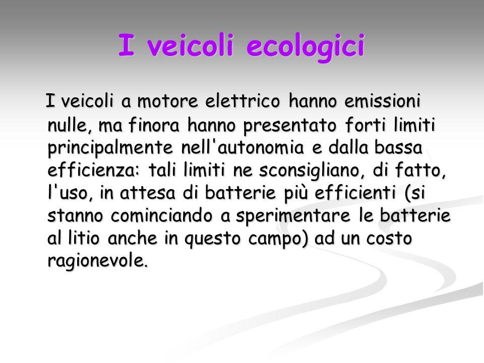 I veicoli ecologici