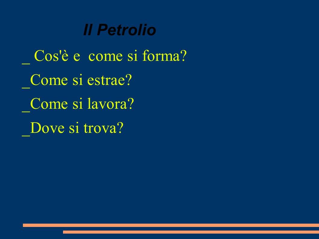 Il Petrolio _ Cos è e come si forma _Come si estrae _Come si lavora _Dove si trova