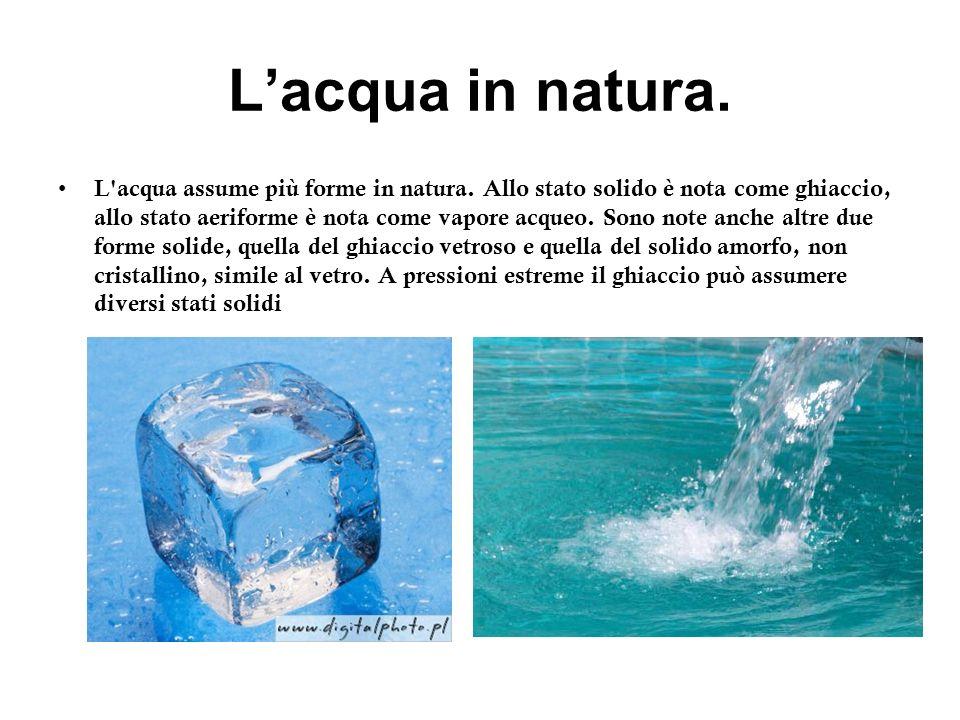 L'acqua in natura.