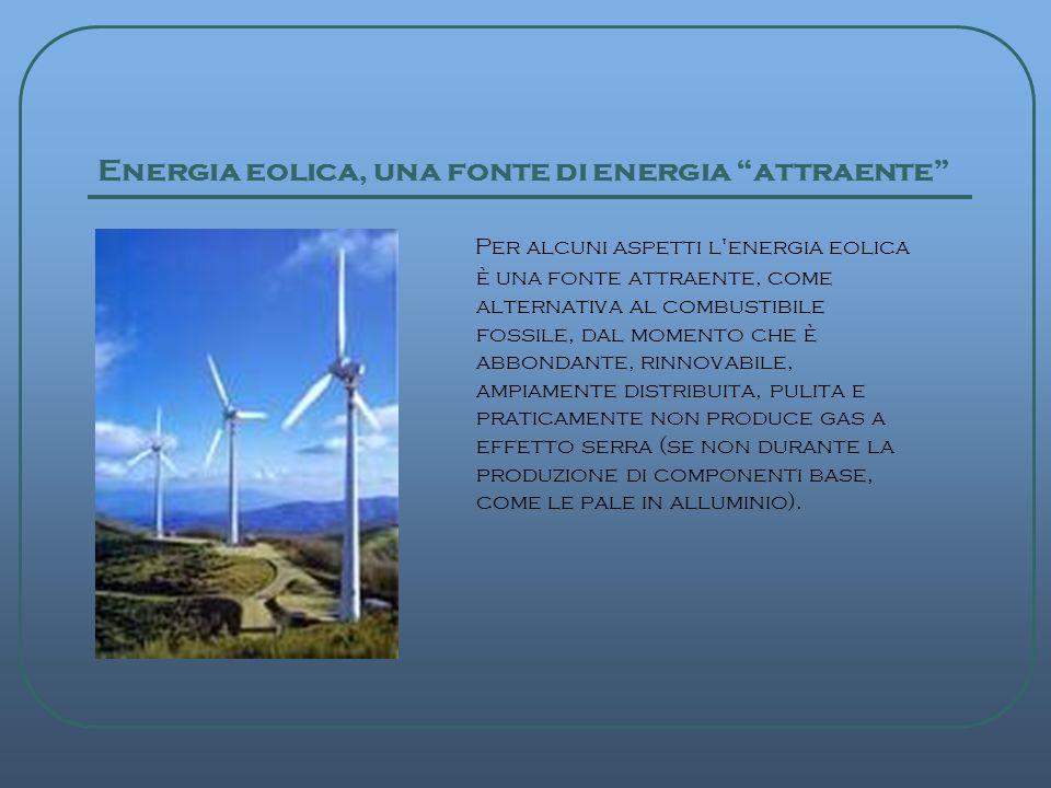 Energia eolica, una fonte di energia attraente