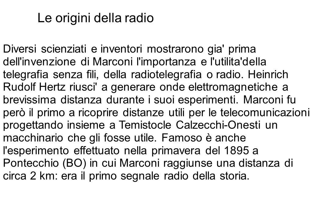 Le origini della radio