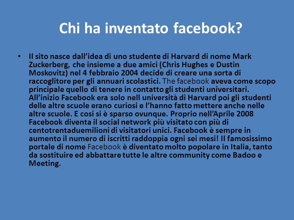 Chi ha inventato facebook
