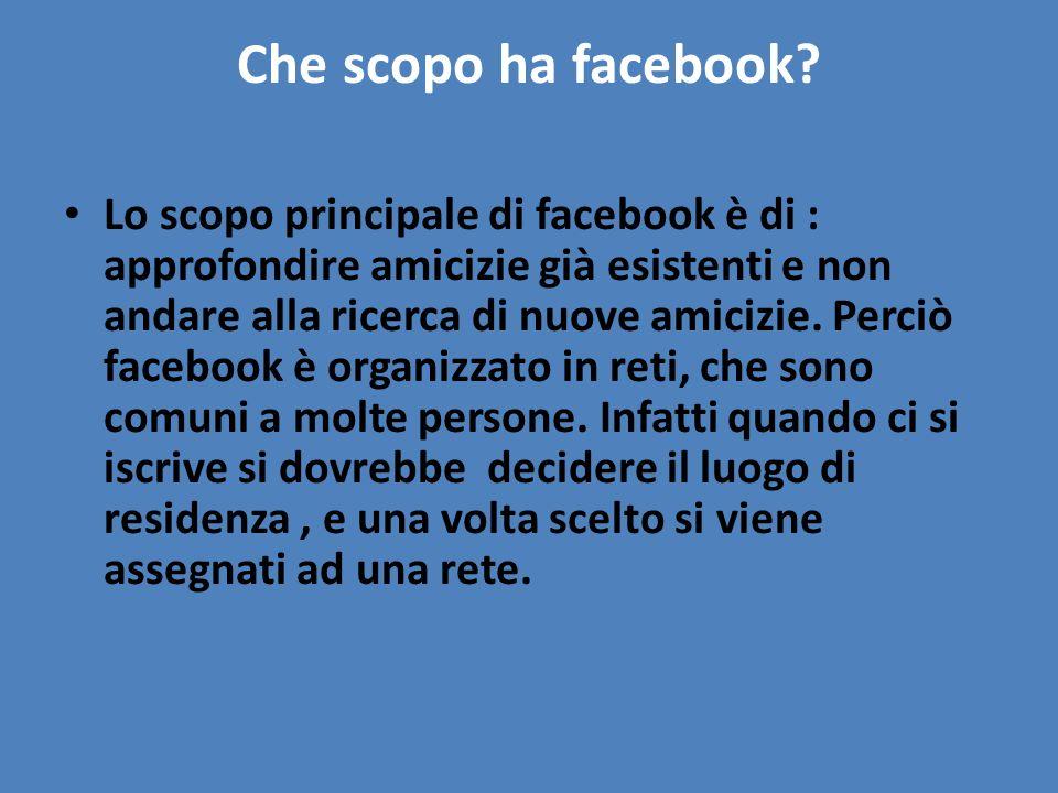 Che scopo ha facebook