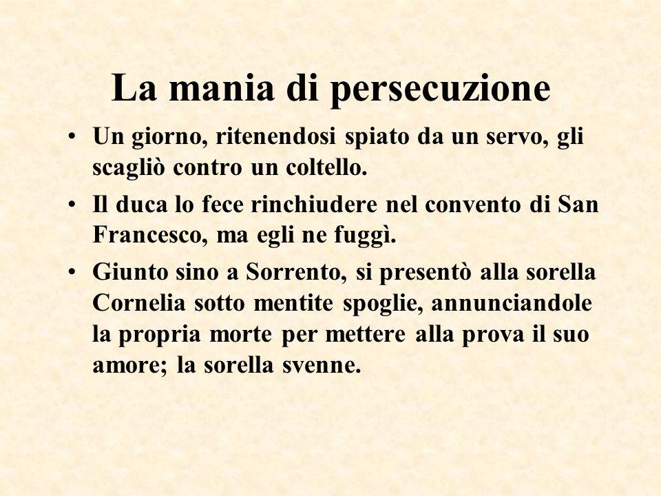 La mania di persecuzione