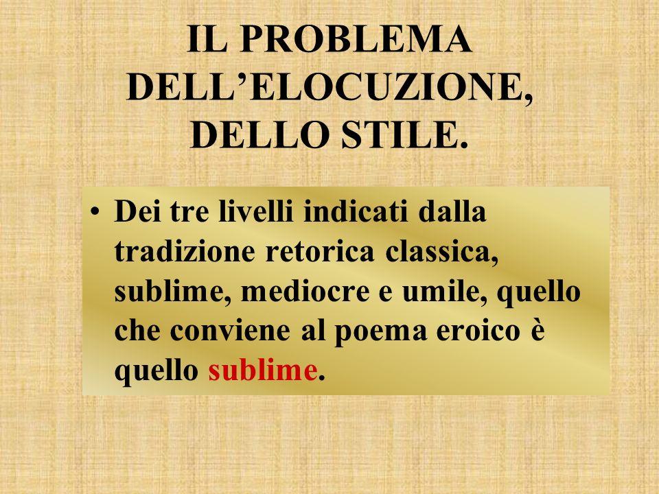 IL PROBLEMA DELL'ELOCUZIONE, DELLO STILE.