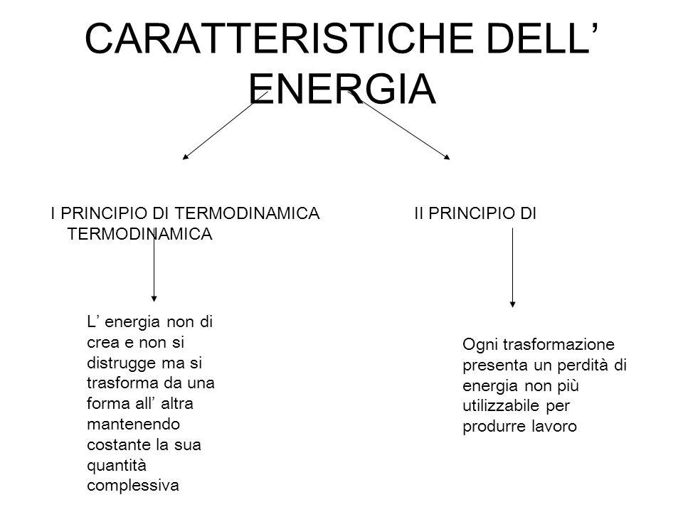 CARATTERISTICHE DELL' ENERGIA