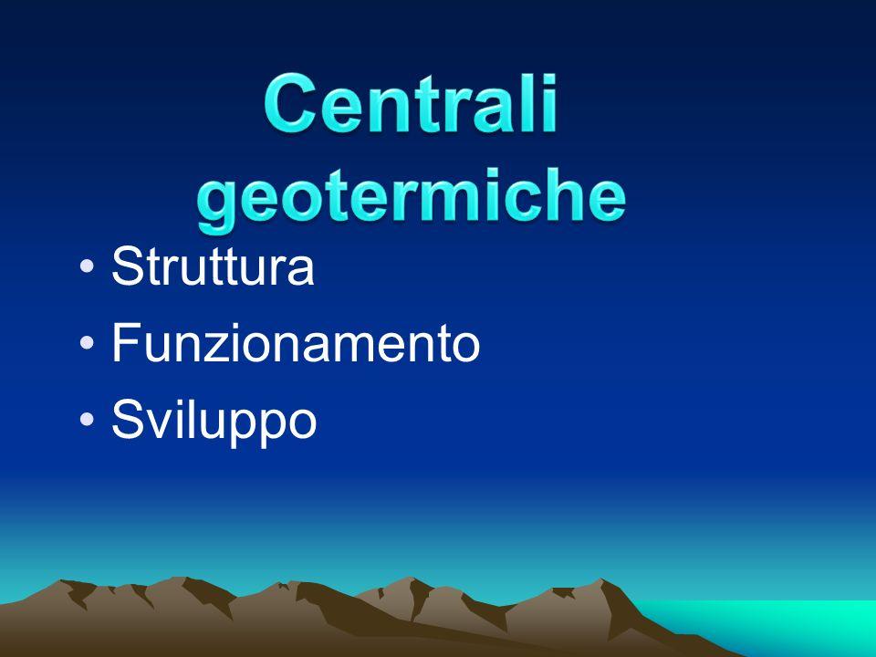 Centrali geotermiche Struttura Funzionamento Sviluppo