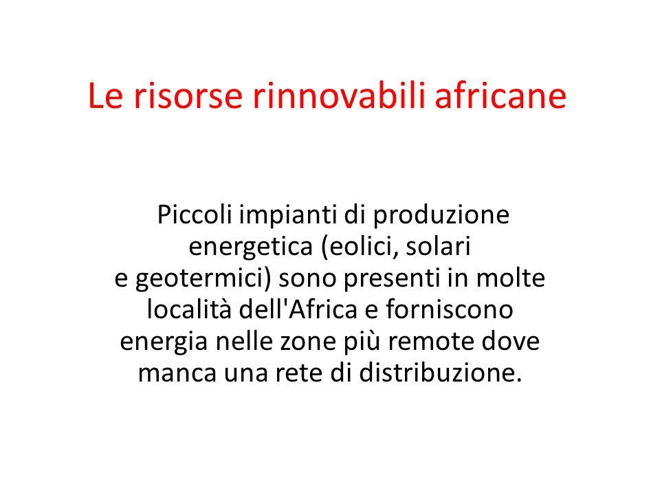 Le risorse rinnovabili africane