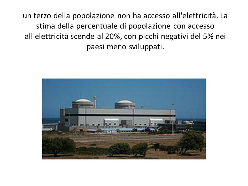 un terzo della popolazione non ha accesso all elettricità