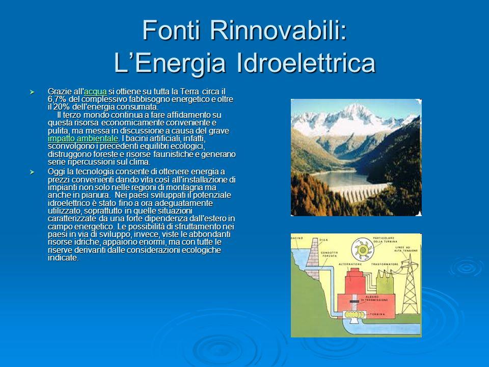 Fonti Rinnovabili: L'Energia Idroelettrica
