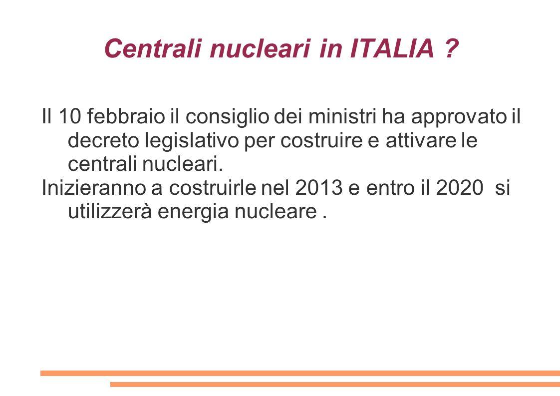 Centrali nucleari in ITALIA