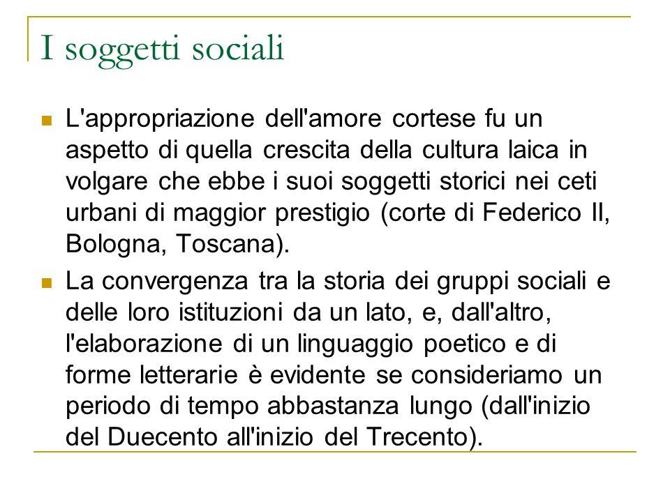 I soggetti sociali