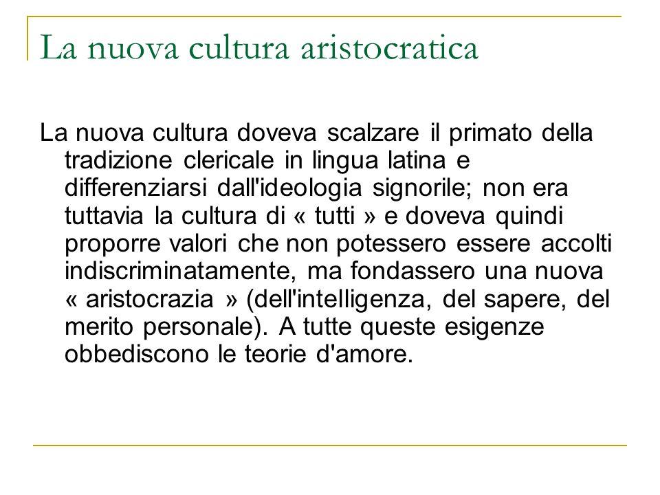 La nuova cultura aristocratica