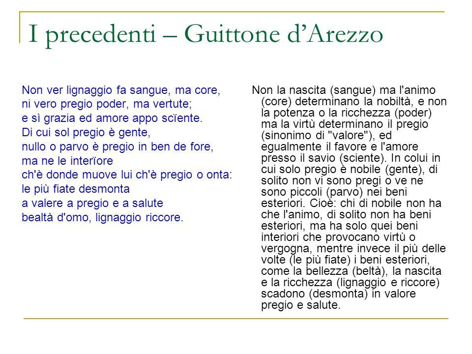 I precedenti – Guittone d'Arezzo