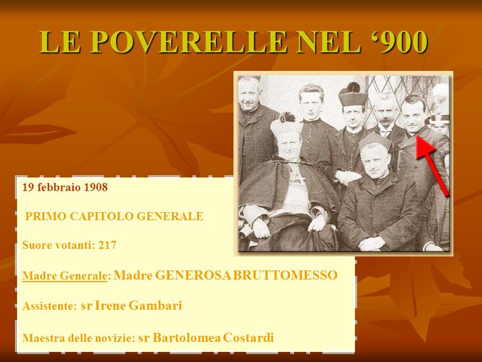 LE POVERELLE NEL '900 19 febbraio 1908 PRIMO CAPITOLO GENERALE