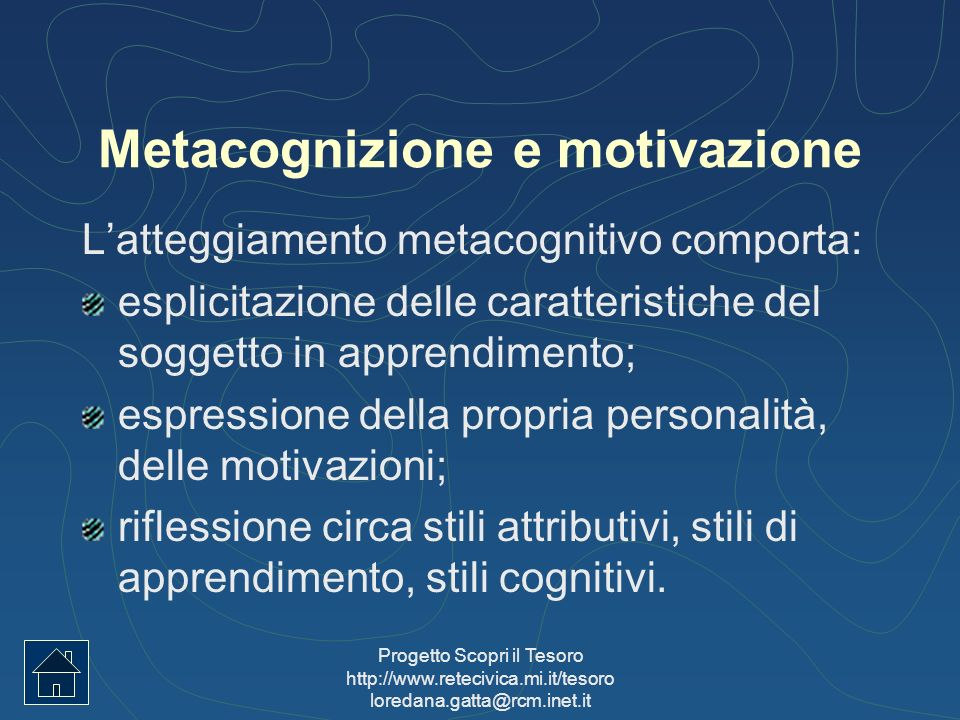 Metacognizione e motivazione