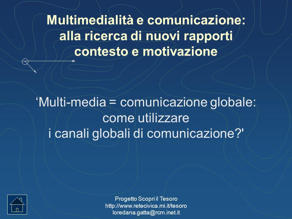Multimedialità e comunicazione: alla ricerca di nuovi rapporti contesto e motivazione