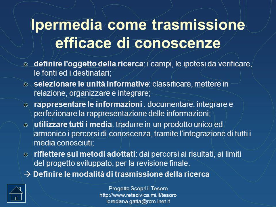 Ipermedia come trasmissione efficace di conoscenze