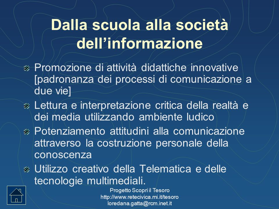 Dalla scuola alla società dell'informazione