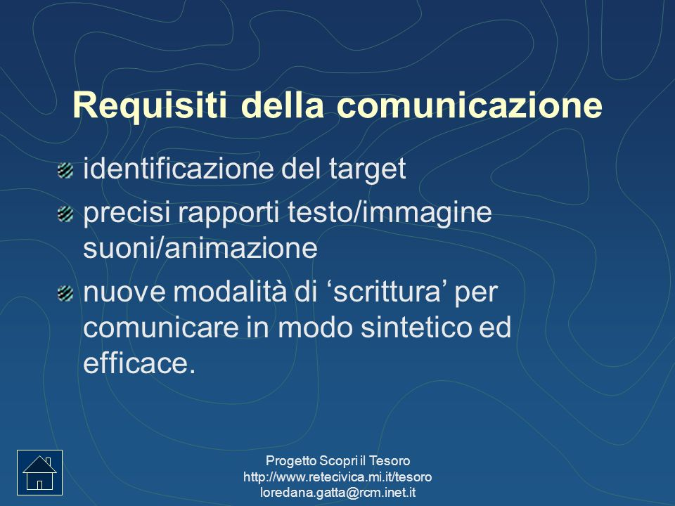 Requisiti della comunicazione