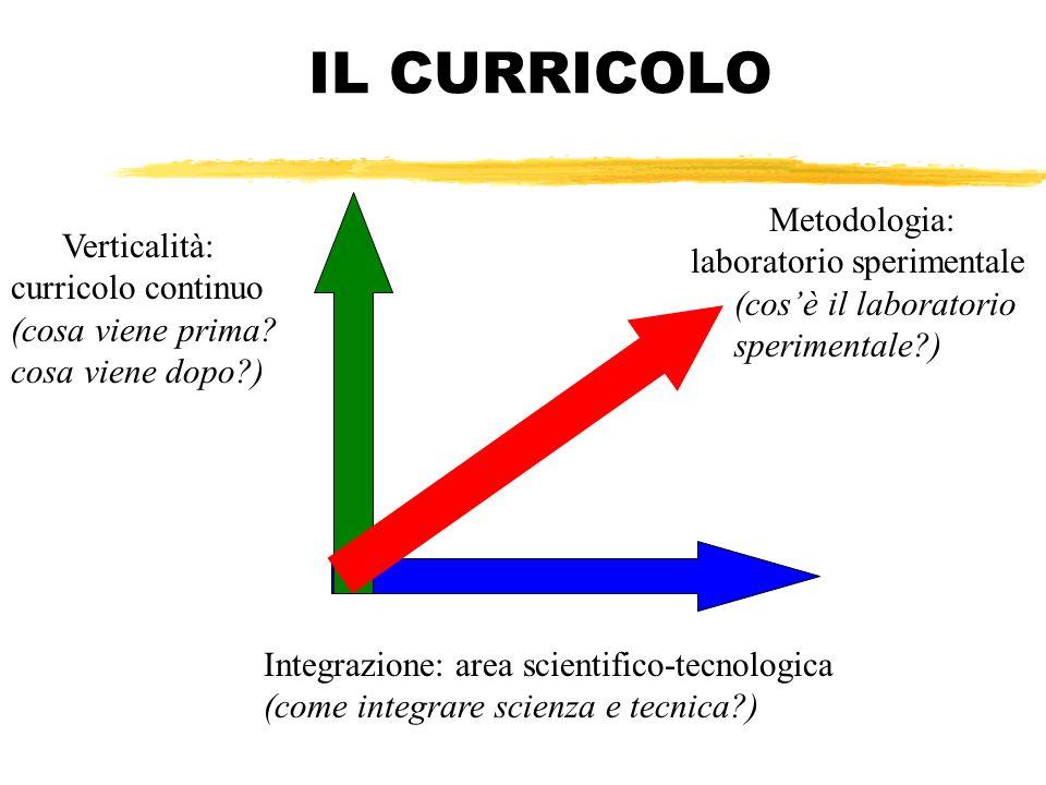 IL CURRICOLO Metodologia: laboratorio sperimentale (cos'è il laboratorio sperimentale )