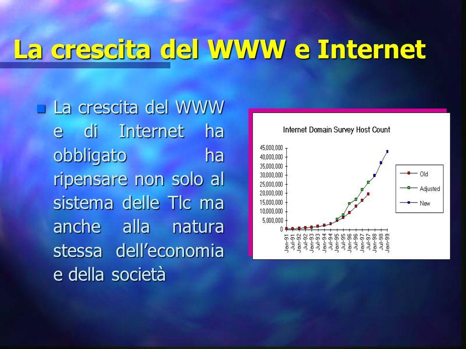 La crescita del WWW e Internet