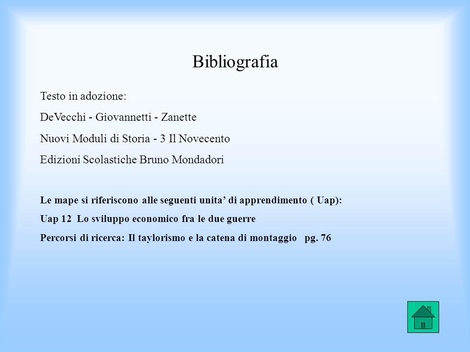 Bibliografia Testo in adozione: DeVecchi - Giovannetti - Zanette