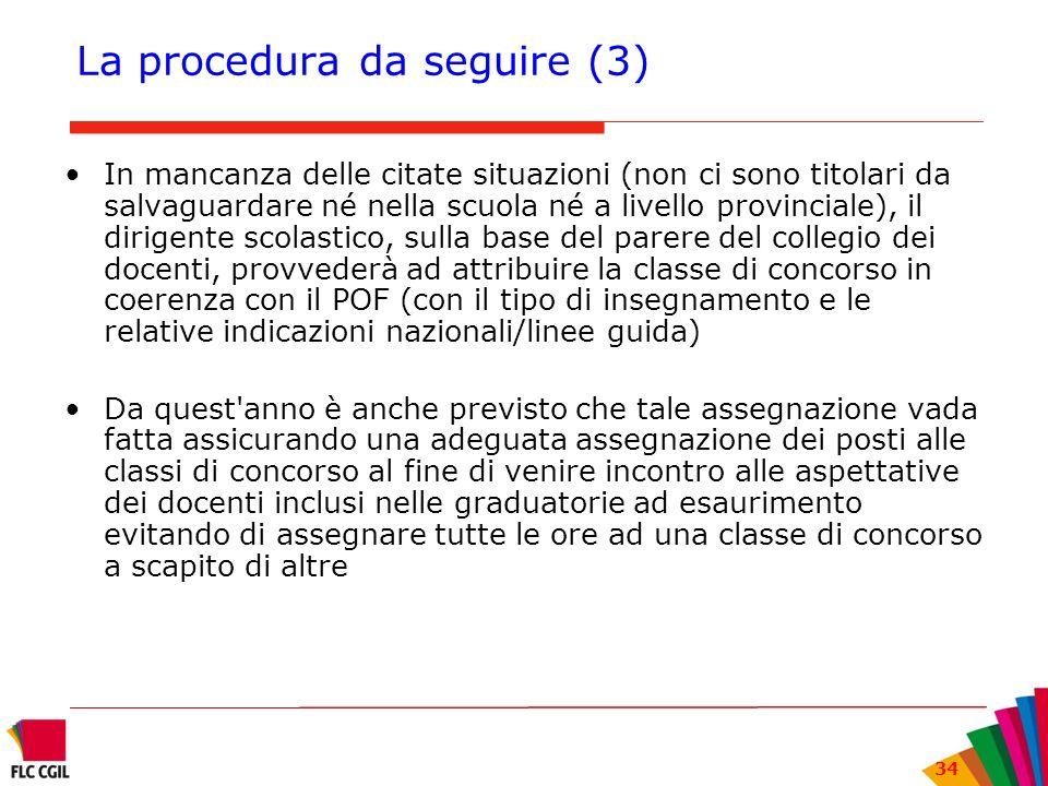 La procedura da seguire (3)