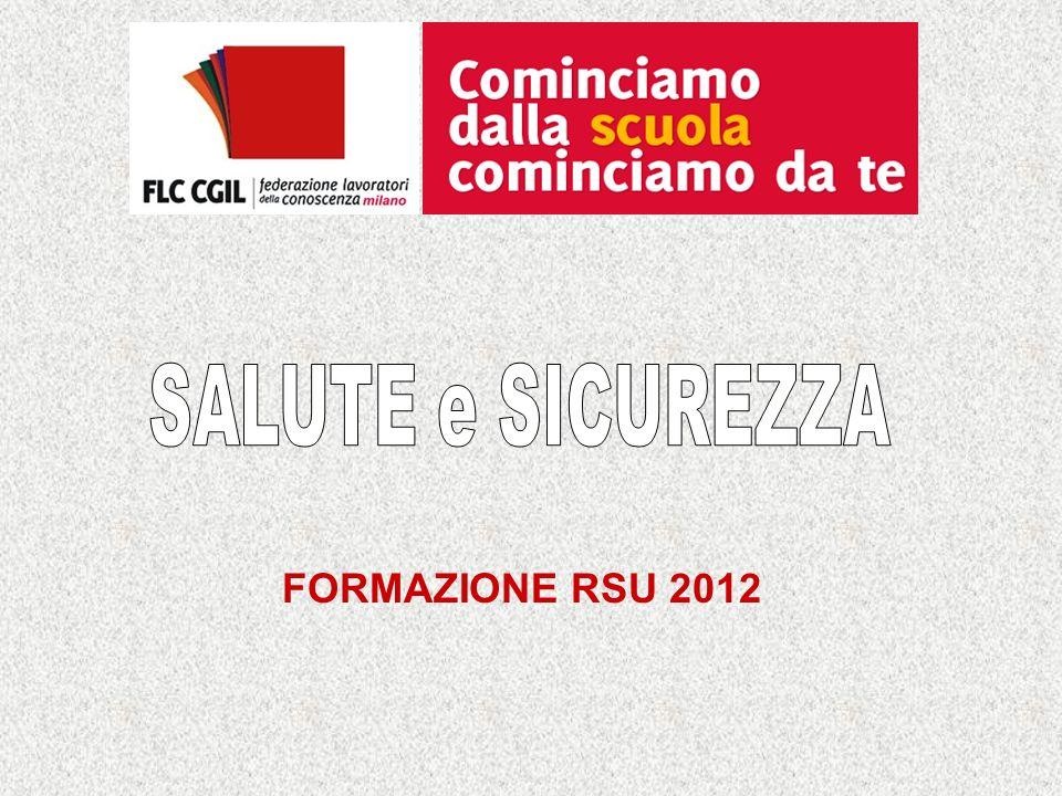 SALUTE e SICUREZZA FORMAZIONE RSU 2012