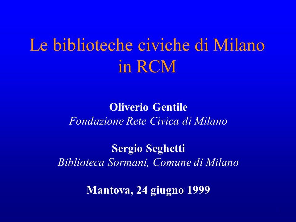 Le biblioteche civiche di Milano in RCM