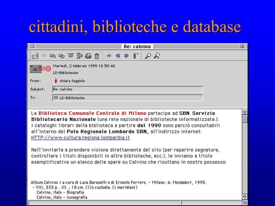 cittadini, biblioteche e database