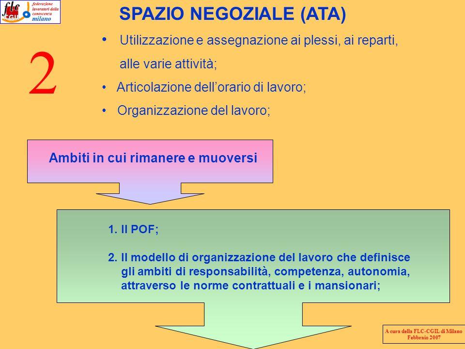 SPAZIO NEGOZIALE (ATA) A cura della FLC-CGIL di Milano