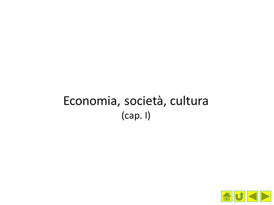 Economia, società, cultura (cap. I)
