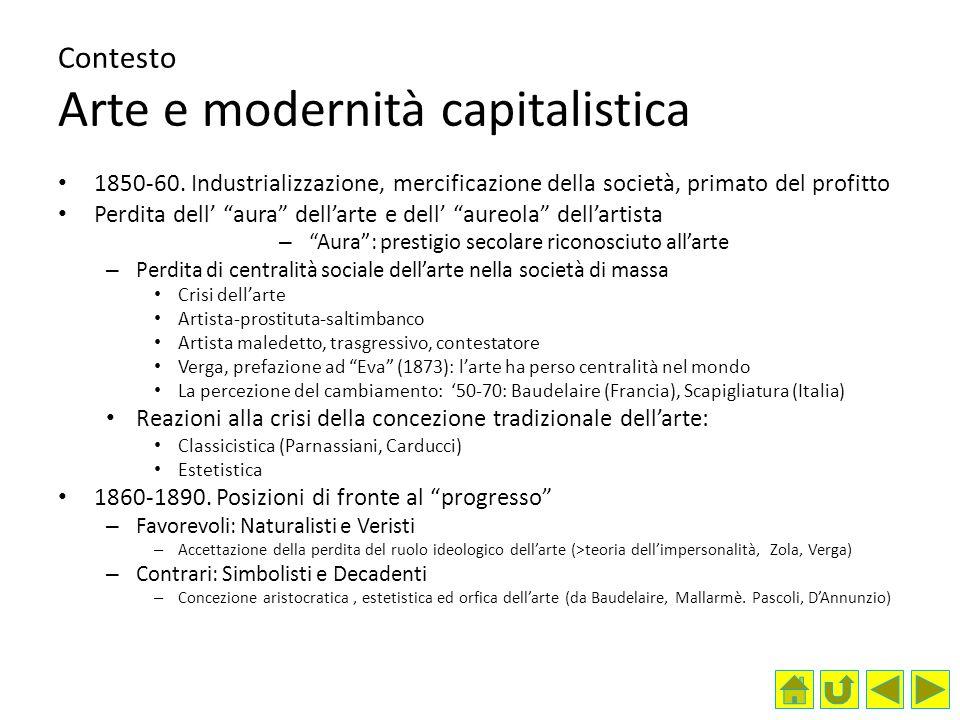 Contesto Arte e modernità capitalistica