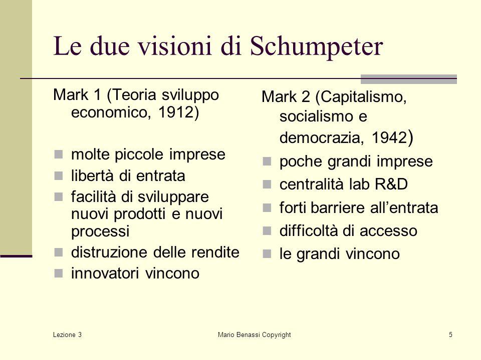 Le due visioni di Schumpeter