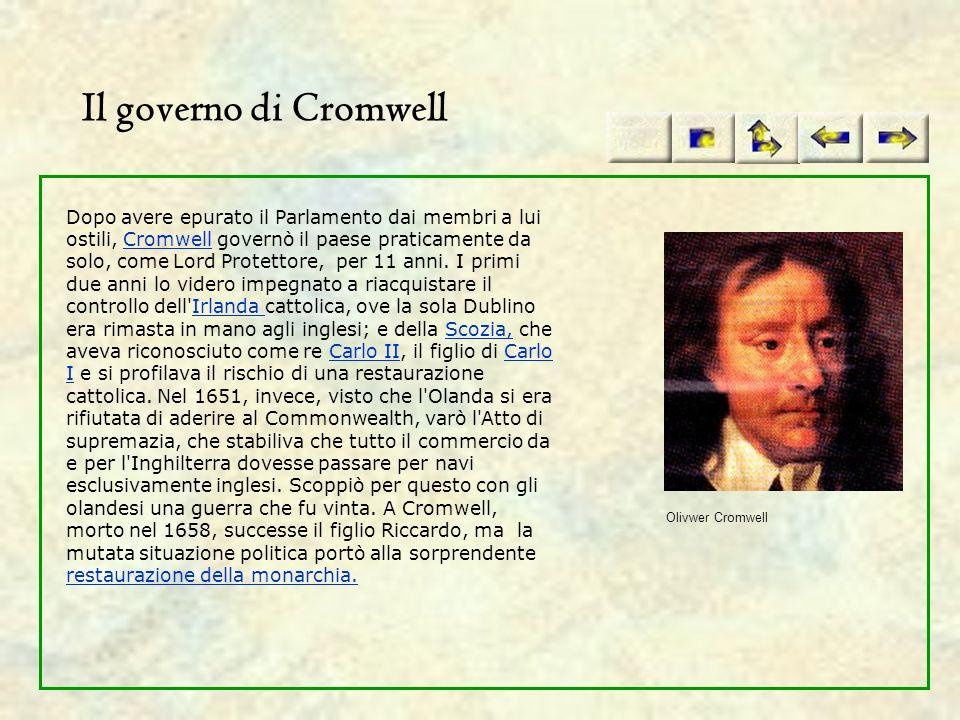 Il governo di Cromwell
