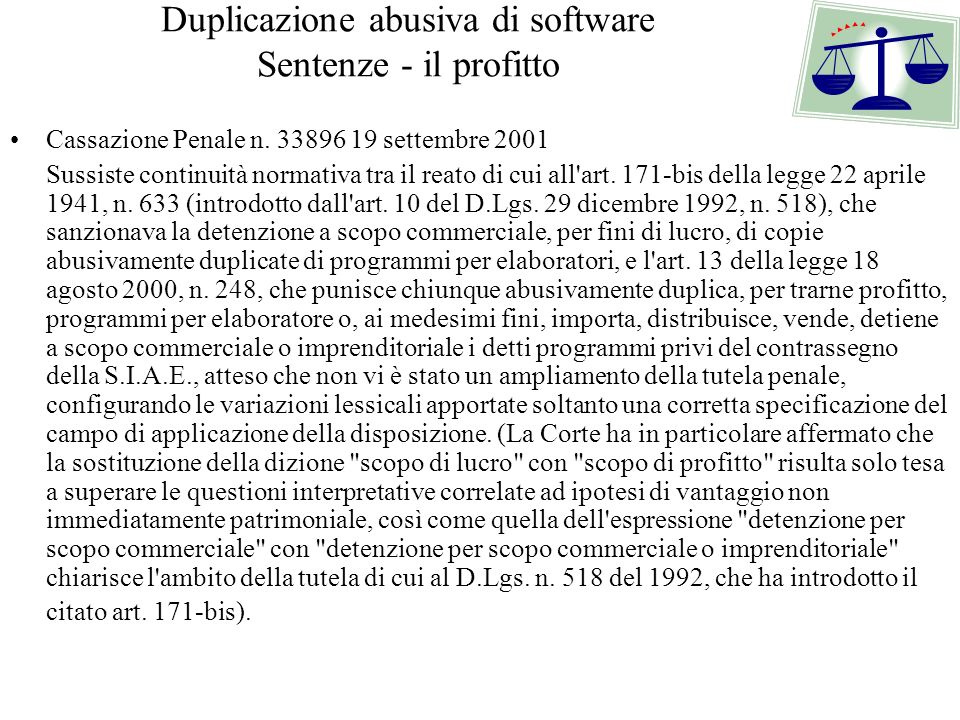 Lezione 4 la tutela del software ppt scaricare for Chambre commerciale 13 octobre 1992