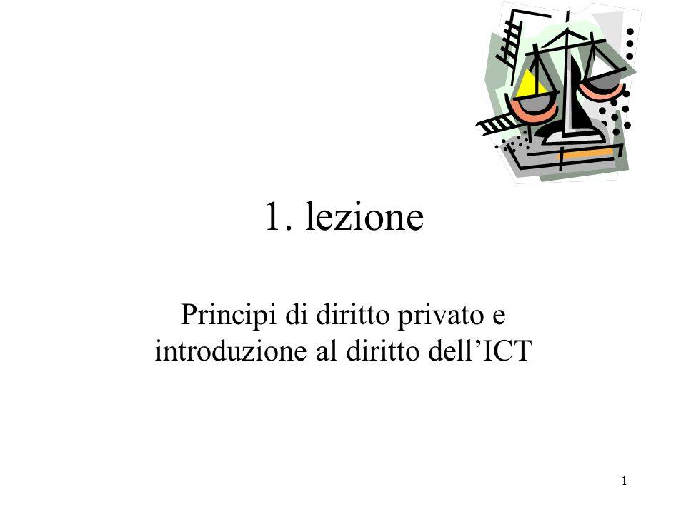 Principi di diritto privato e introduzione al diritto dell'ICT