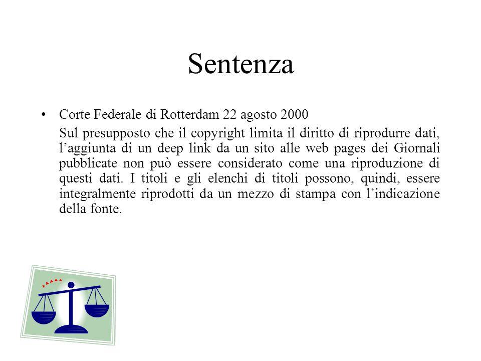 Sentenza Corte Federale di Rotterdam 22 agosto 2000