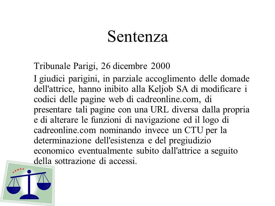 Sentenza Tribunale Parigi, 26 dicembre 2000