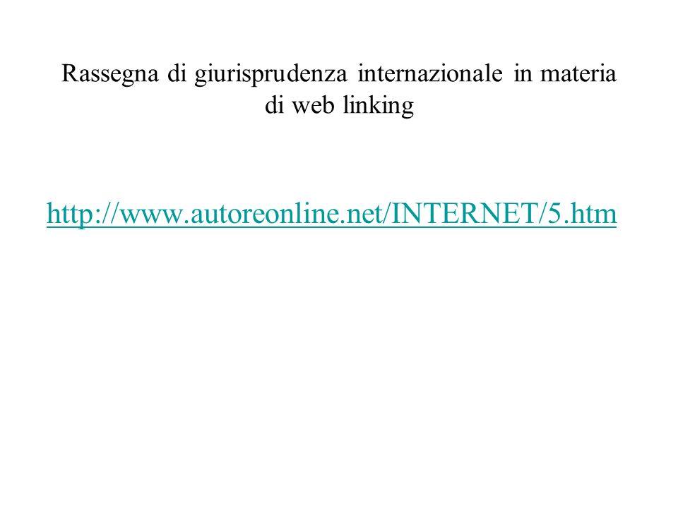 Rassegna di giurisprudenza internazionale in materia di web linking