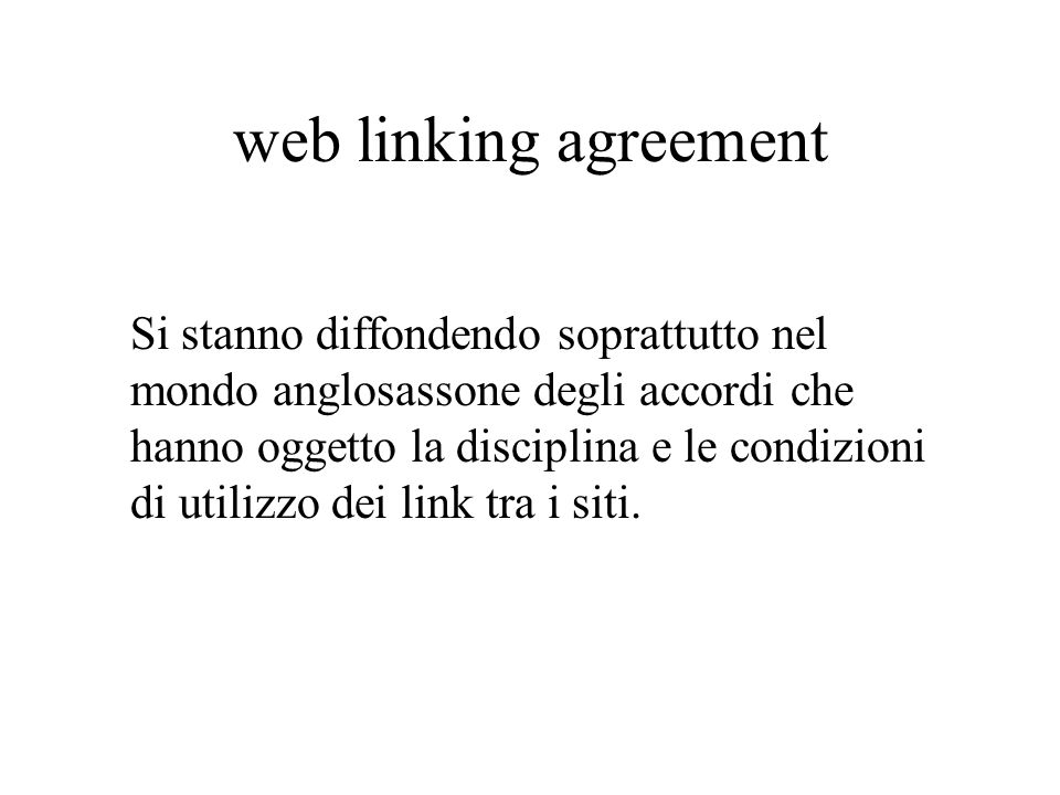 web linking agreement