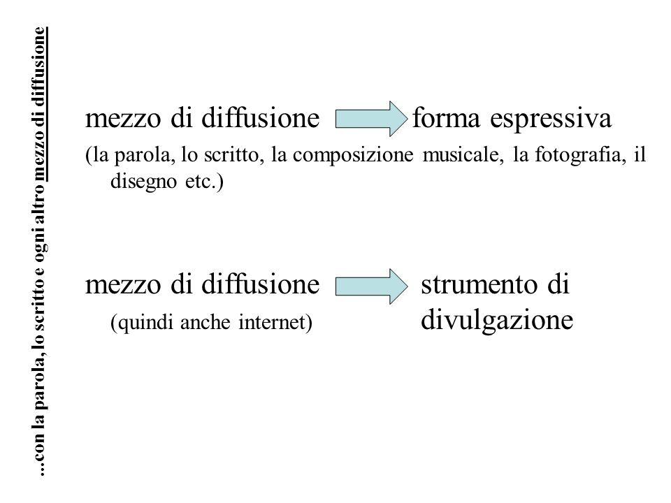 mezzo di diffusione forma espressiva