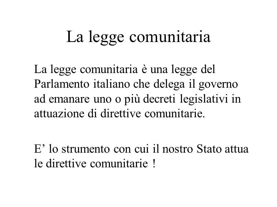 La legge comunitaria