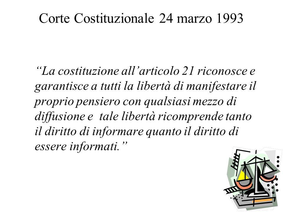 Corte Costituzionale 24 marzo 1993