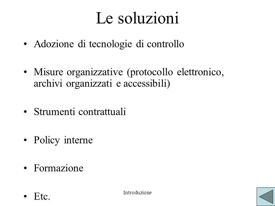 Le soluzioni Adozione di tecnologie di controllo