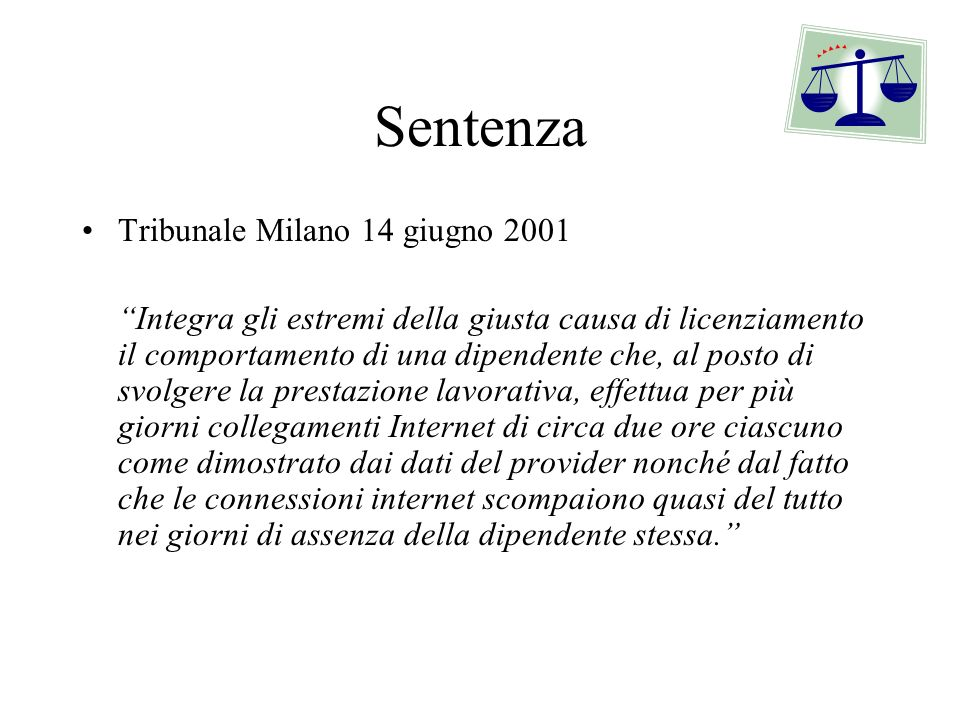 Sentenza Tribunale Milano 14 giugno 2001