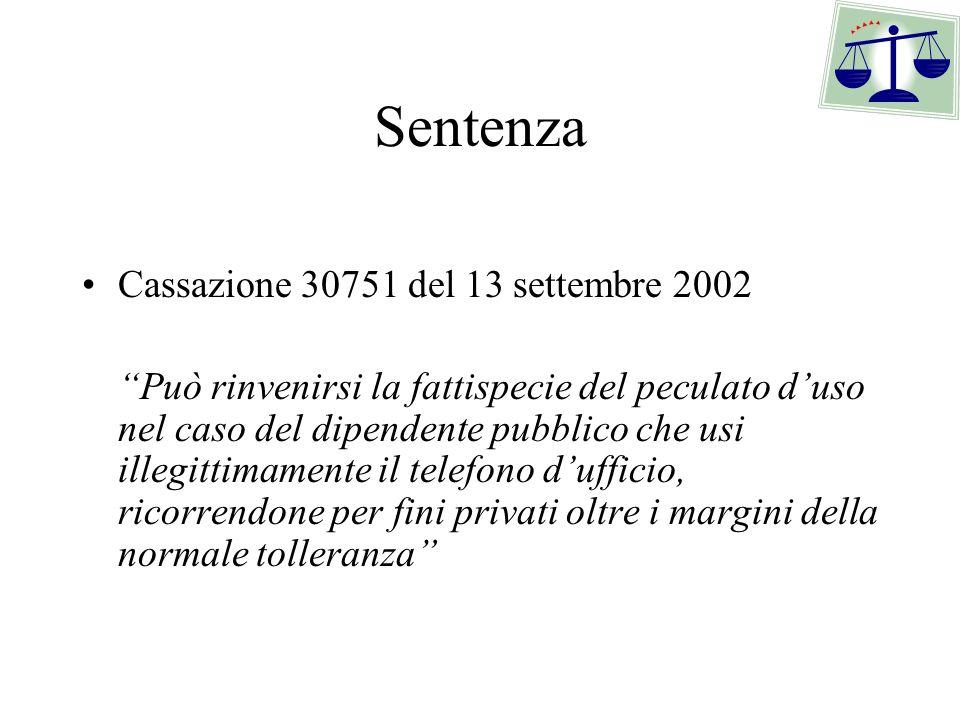 Sentenza Cassazione 30751 del 13 settembre 2002