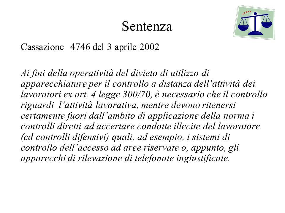 Sentenza Cassazione 4746 del 3 aprile 2002